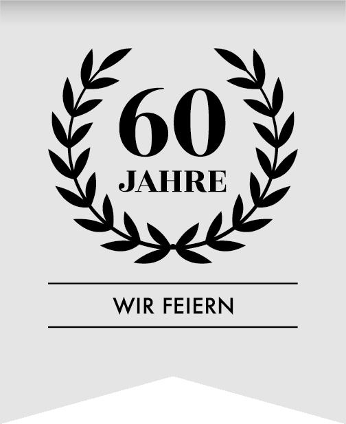 Wir feiern unser 60 Jahre Jubiläum